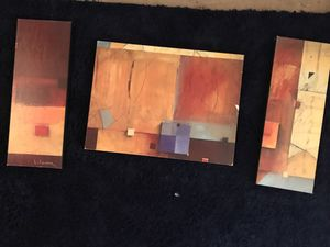 3 Abstract Paintings ($5 each)