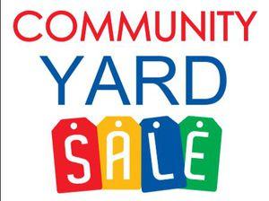 Community Yard Sale Sat 7/29 9am-1pm