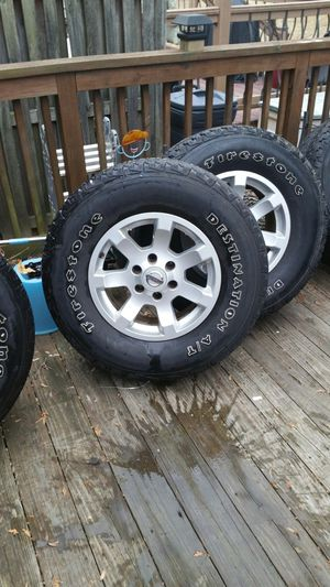 Firestone Tires and Rims 285/75/17