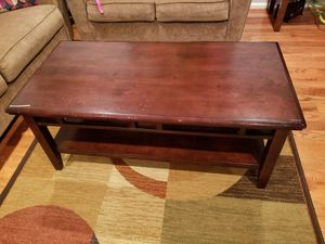 Coffee table for sale it has done scratches but they're fixable