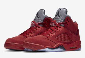 "Jordan 5 Red Suede ""Flight Suit"" *PREORDER*"