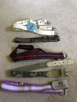 Set of 5 assorted belts for kids