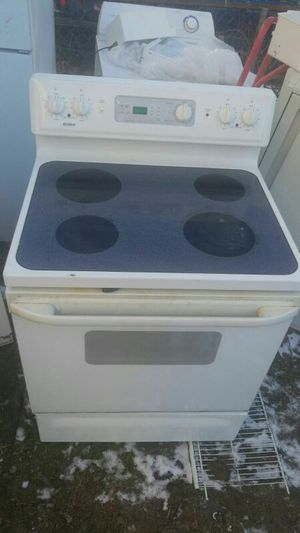 Electric stove with dishwasher