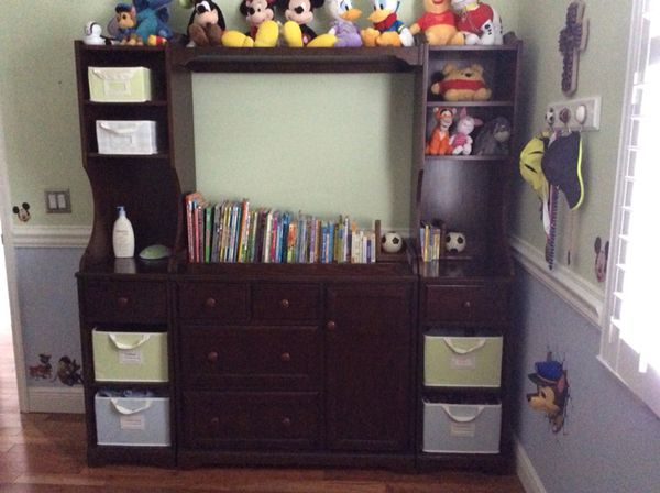 Pottery Barn Madison Changing Table System Wall Unit Bookcase (Baby ...