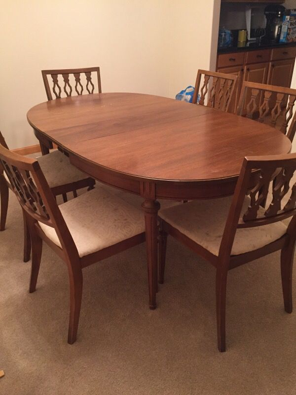 retro vintage dining room set furniture in covington wa offerup
