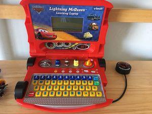 Lighting McQueen learning computer