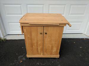 Cabinet on Wheels for Garage Kitchen