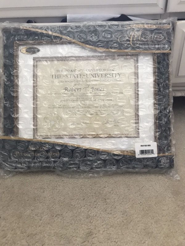 Artcare frame for diploma (Photography) in East Amherst, NY