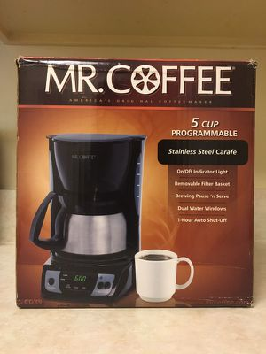 Mr. Coffee 5-Cup Programmable Stainless Steel