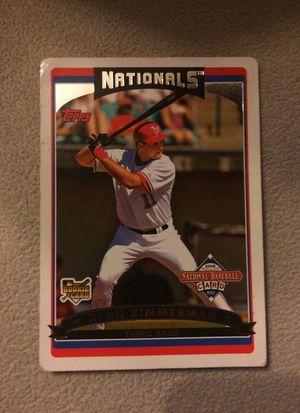 Ryan Zimmerman Baseball Card