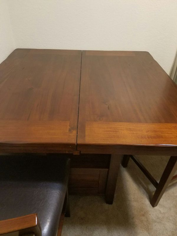Bar height dining table with 4 chairs furniture in for Furniture bremerton