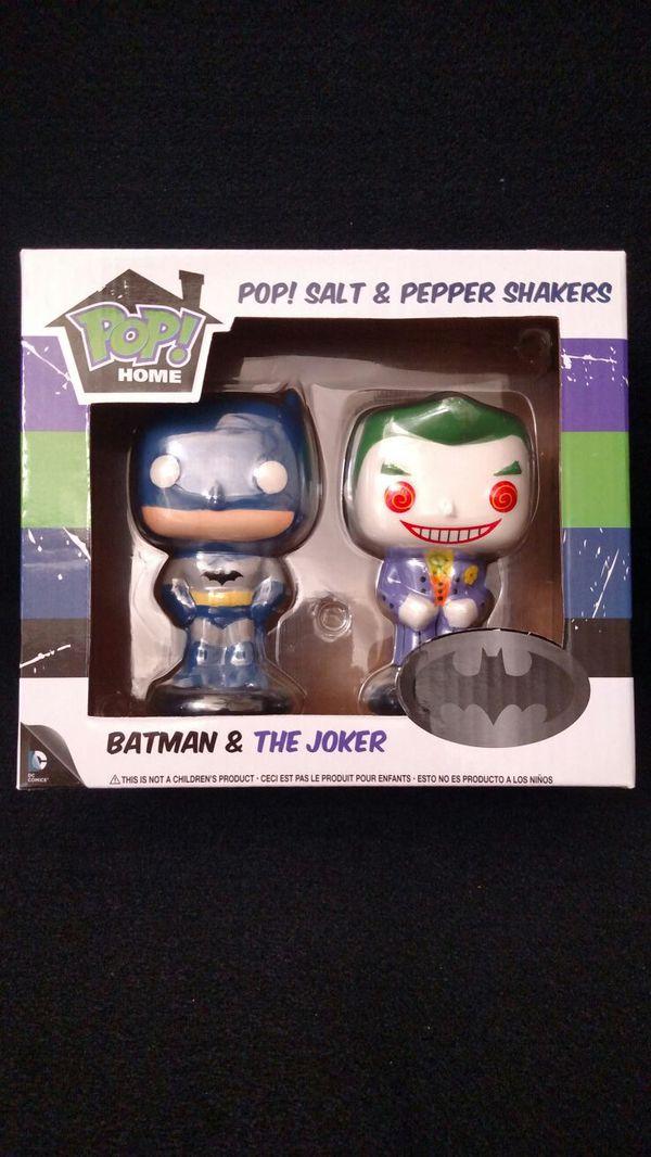 Salt And Pepper Dc pop! home: dc - batman and the joker salt & pepper shakers