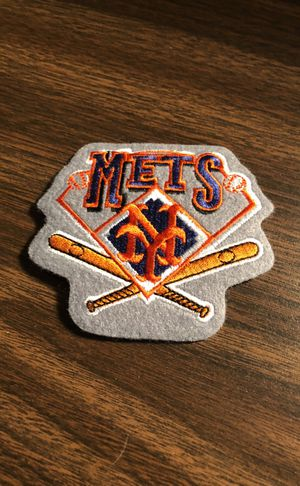 NY Mets Embroidered Patch, History of the Mets! Great Framing or Jacket Patch!