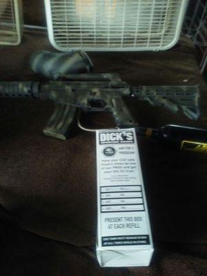 ALPHA BLACK M4 PAINTBALL GUN AND GEAR