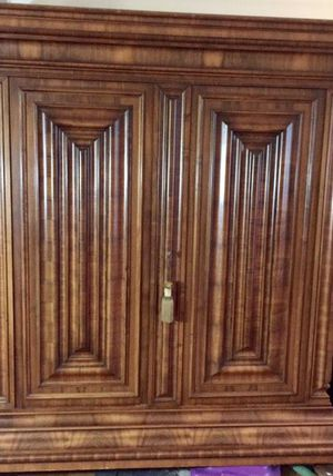 Large Antique German Oak Shrank Shrunk Armoire Cabinet - Stunning & Functional!
