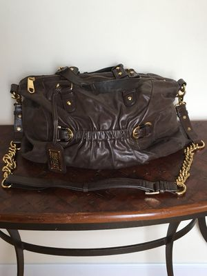 Brown Leather Badgley Mischka Handbag
