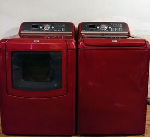 Cherry Red Washer And Dryer