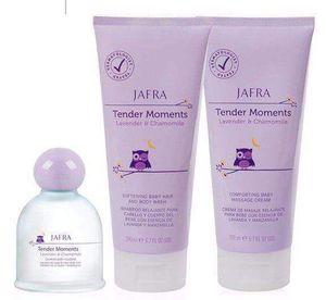 Crema, shampoo y colonia para bebés