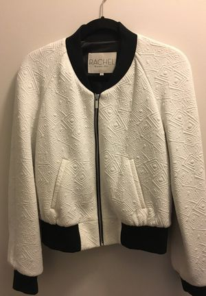 Rachel Roy B&W Bomber - size L new with tags