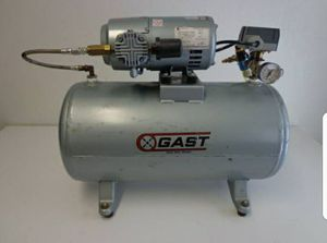 Gast 3HBB-69T-M300AX 1/3 HP 1725 RPM 115V 12 Gal Tank Electric Air Compressor