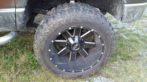 Ion 20x12 aluminum wheels and tires