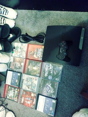 Ps3, controller, hdmi+powercord, 11 games