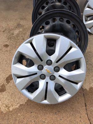 "Chevrolet Cruze 16"" oem steel wheels with hubcaps 5X105 bolt pattern in a very good condition. Rines originales de Chevrolet Cruze de 16 pulgadas"