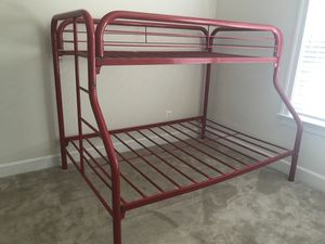Red Metal Twin/Full Bunk Bed