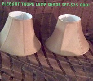 New and used lamp shades for sale in tuscaloosa al offerup elegant set of taupe lamp shades mozeypictures Images