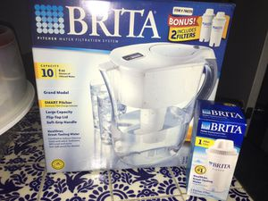 NEW Brita water Pitcher with extra filters