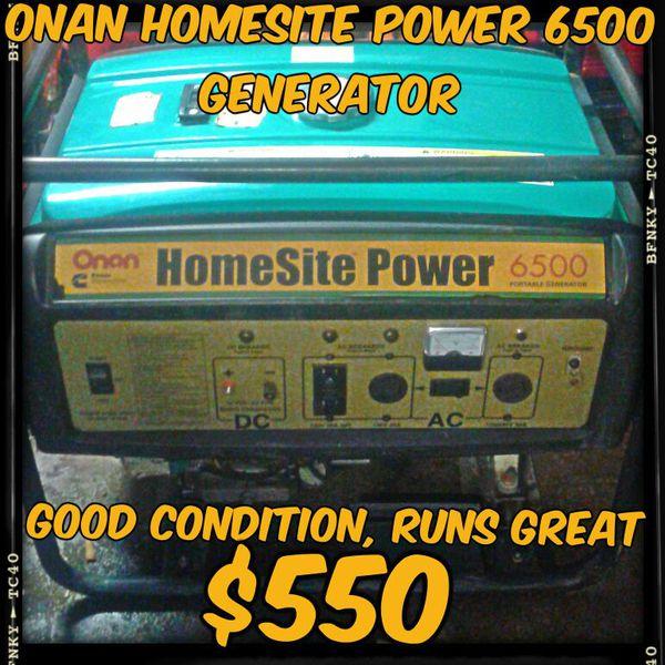 Onan Power Generators: Lower Price 450$$$ ONAN HomeSite Power 6500 Generator