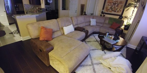 furniture reclining sectional riverview badcock couch fl new detail item in