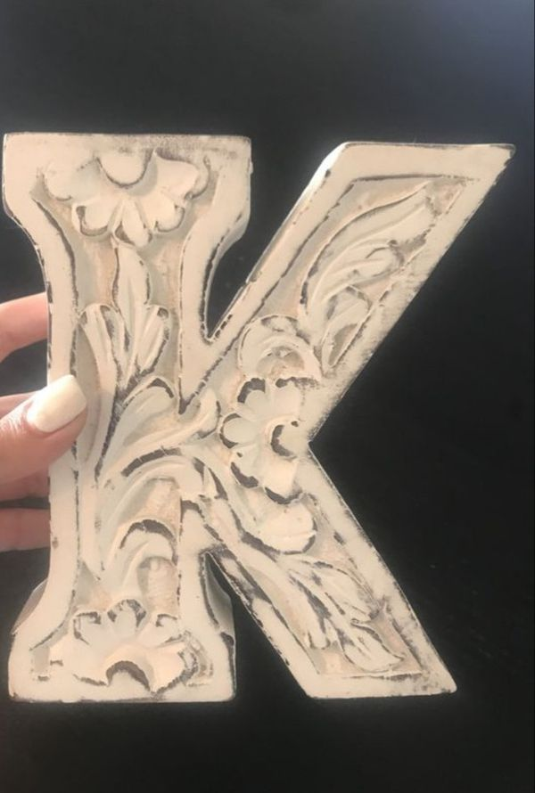 Letter K Wood Wall Decor. Can be used on wall or table. 8 ...