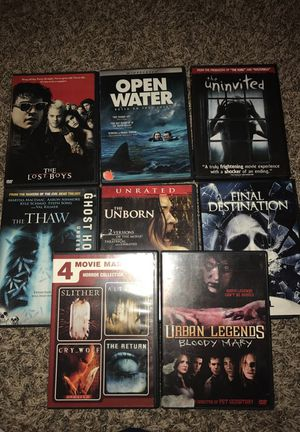 16 horror titles DVD