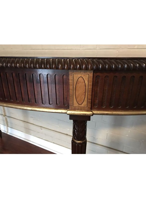 Neoclassical Demilune Console Table John Widdicomb by Stickley
