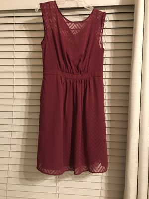 Burgundy lace overlay dress in size small
