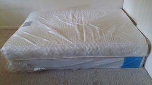 Elegance mattress and box spring, queen size - like new