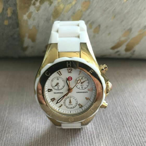 MICHELE Tahitian White and Rose Gold Jellybean Watch for Ladies