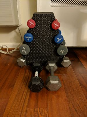 Dumbbells and stand