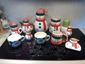 Snowmen kitchen 11 piece set