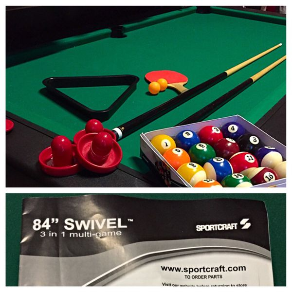 Swivel Sports Craft Multi Game Table Games Toys In - Sportcraft 3 in 1 pool table