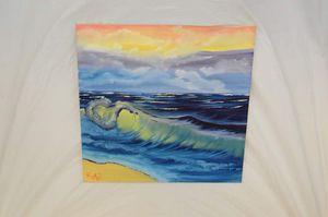 """Rainbow waves (Oil on canvas 30"""" x 30"""")"""