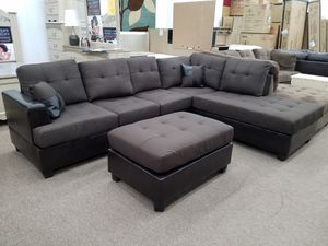 Brand new sectional with free ottoman 90 days no credit check financing