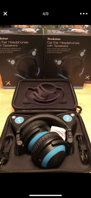 Brookstone Cat 🐱 Ears Headphone 🎧 with Speakers 🔊