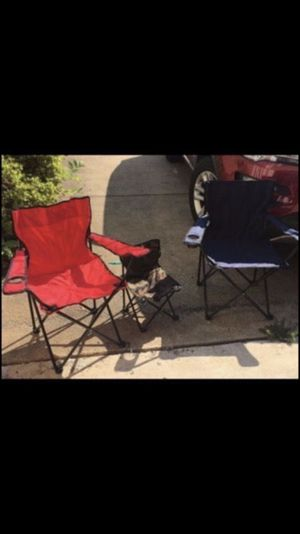 3 Folding chairs - new