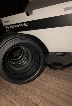 SIGMA 100-400mm F5-6.3 DG LENS FOR SALE