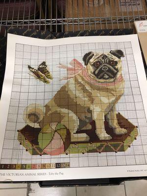 Pug Needlework Kit by Elizabeth Bradley