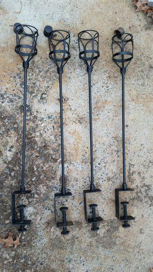 4 deck rail clamp on citronella holders