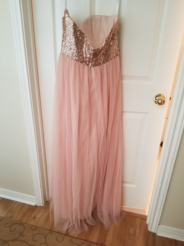 Rose gold formal dress. Great for prom! (Clothing & Shoes) in Austin, TX