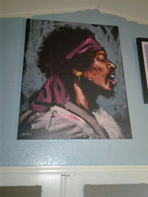 Jimi Hendrix named bandana by David Garibaldi signs and ready to hang